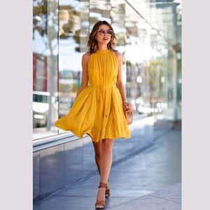 eac9b231df 🎉HOST PICK 🎉 Yellow Gold Sleeveless Mini Dress